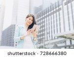 lifestyle business woman feel... | Shutterstock . vector #728666380