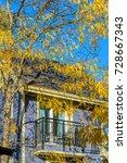 a perfect neighborhood. houses... | Shutterstock . vector #728667343