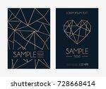 geometric rose gold design... | Shutterstock .eps vector #728668414