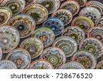 romanian traditional ceramic in ... | Shutterstock . vector #728676520