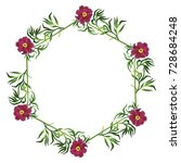 isolated round floral wreath...