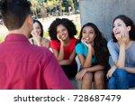 group of multi ethnic girls... | Shutterstock . vector #728687479