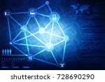 2d illustration technology... | Shutterstock . vector #728690290