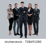 group of smiling business... | Shutterstock . vector #728691280