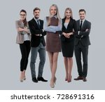 group of smiling business... | Shutterstock . vector #728691316