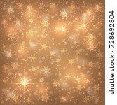 golden  bronze christmas... | Shutterstock .eps vector #728692804