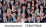 collage of many different human ... | Shutterstock . vector #728697868
