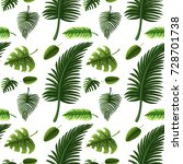 seamless design with many green ... | Shutterstock .eps vector #728701738