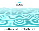 abstract blue lines wave  wavy... | Shutterstock .eps vector #728707120