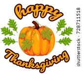 happy thanksgiving background | Shutterstock .eps vector #728711518