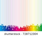 a crowd of people. vector...   Shutterstock .eps vector #728712304