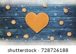 christmas background with... | Shutterstock . vector #728726188