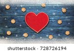 christmas background with... | Shutterstock . vector #728726194