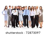 young attractive business... | Shutterstock . vector #72873097