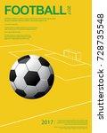soccer football poster vestor... | Shutterstock .eps vector #728735548