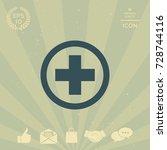 medical cross icon   Shutterstock .eps vector #728744116