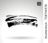 black brush stroke and texture. ... | Shutterstock .eps vector #728744578