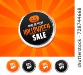 trick or treat halloween sale...   Shutterstock .eps vector #728744668