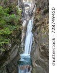 Small photo of Three hundred foot alpine waterfall on the river Auerbach II