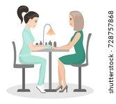 manicure. customer service in... | Shutterstock .eps vector #728757868