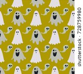 ghost  pattern  vector... | Shutterstock .eps vector #728759980