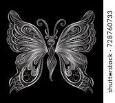 beautiful  butterfly. vector...   Shutterstock .eps vector #728760733