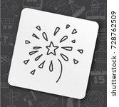 doodle doodle firework | Shutterstock .eps vector #728762509