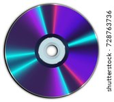 compact cd or dvd disc | Shutterstock .eps vector #728763736