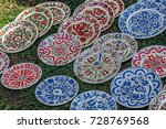 romanian traditional ceramic in ... | Shutterstock . vector #728769568