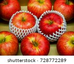 red apple wrapped with sleeve... | Shutterstock . vector #728772289