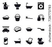 16 vector icon set   cleanser ... | Shutterstock .eps vector #728773783