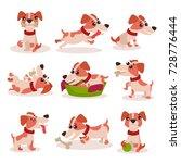 cute jack russell terrier... | Shutterstock .eps vector #728776444