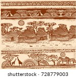 beautiful african carpet.... | Shutterstock .eps vector #728779003