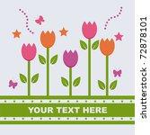 cute spring background | Shutterstock .eps vector #72878101