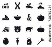 16 Vector Icon Set   Bio  Dna ...