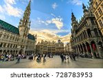 tourist at the grand place in... | Shutterstock . vector #728783953