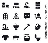 16 vector icon set   coin stack ...