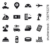 16 vector icon set   car... | Shutterstock .eps vector #728792278