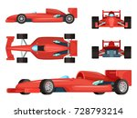 different sides of sport cars.... | Shutterstock .eps vector #728793214