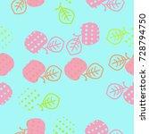 apple halftone  seamless...   Shutterstock .eps vector #728794750