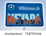 a sign by the side of the road... | Shutterstock . vector #728795146