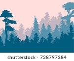 vintage forest design template. ... | Shutterstock .eps vector #728797384