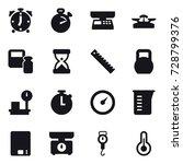 16 vector icon set   alarm... | Shutterstock .eps vector #728799376