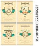 set of american football retro... | Shutterstock .eps vector #728800234
