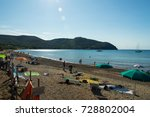 a beautiful view of the baratti ... | Shutterstock . vector #728802004