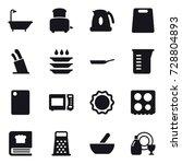 16 vector icon set   bath ...   Shutterstock .eps vector #728804893