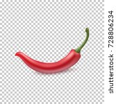 red chili pepper isolated on... | Shutterstock .eps vector #728806234