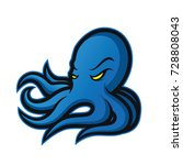 octopus mascot logo | Shutterstock .eps vector #728808043