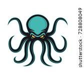 octopus mascot logo | Shutterstock .eps vector #728808049