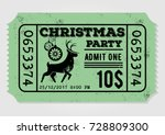 vintage christmas party... | Shutterstock .eps vector #728809300